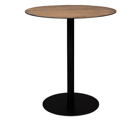 Dutchbone Bar table Braza round brown metal 75x93cm