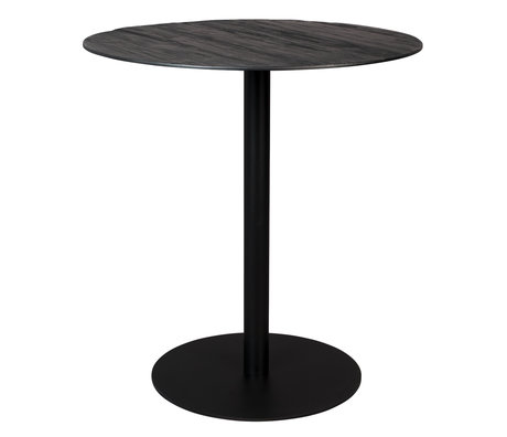Dutchbone Table de bar Braza ronde en métal noir 75x93cm
