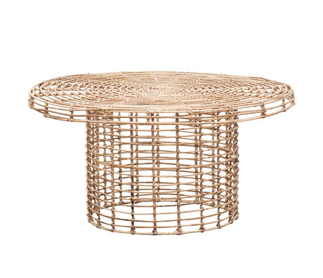 Housedoctor Table basse Nature en rotin brun Ø80x39.5cm