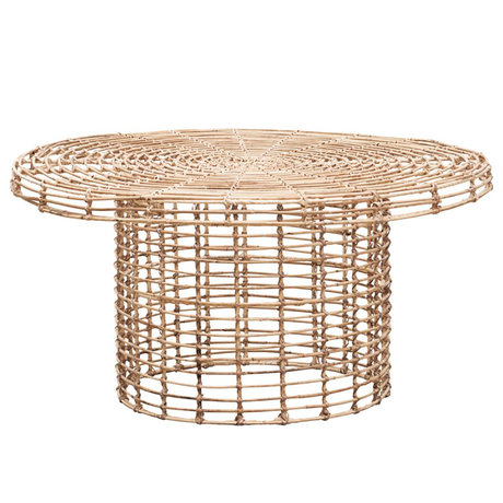 Housedoctor Coffee table Nature brown rattan Ø80x39.5cm