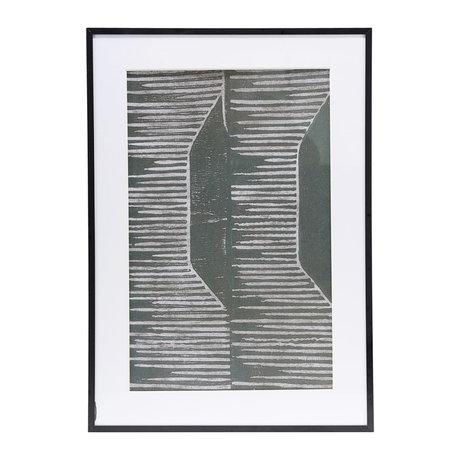 Housedoctor Affiche avec cadre Champ 02 verre gris métal 59.5x42cm