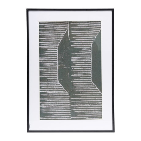 Housedoctor Poster met lijst Field 02 grijs glas metaal 59,5x42cm