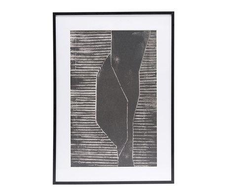 Housedoctor Poster met lijst Field 01 grijs glas metaal 59,5x42cm