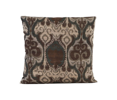 Housedoctor Cushion cover Laha dark green multicolour textile 50x50cm