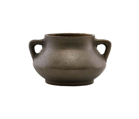 Housedoctor Pot de fleurs saison fer brun Ø17x10cm