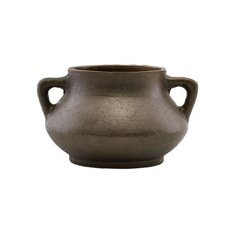 Housedoctor Flowerpot Season antique brown iron Ø17x10cm