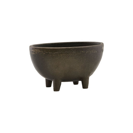 Housedoctor Flowerpot Season antique brown iron 13.5x8cm