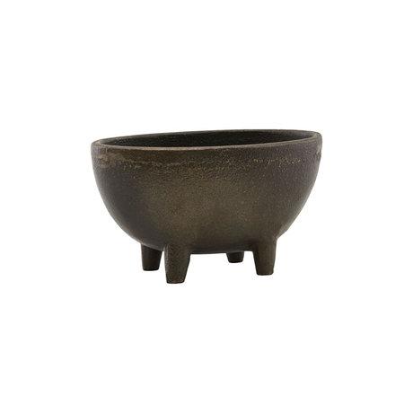 Housedoctor Pot de fleurs saison fer brun antique 13.5x8cm