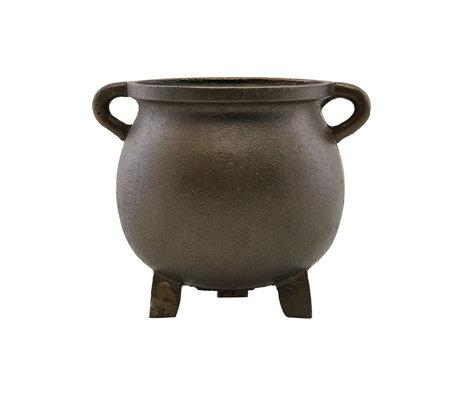 Housedoctor Flowerpot Season antique brown iron Ø17x14.5cm