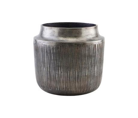 Housedoctor Pot de fleurs Heylo argent antique Ø24x23cm en aluminium