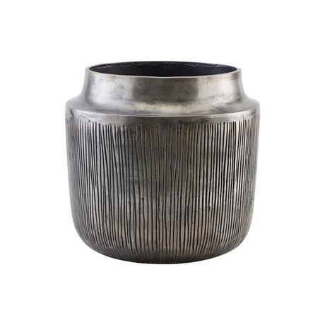 Housedoctor Bloempot Heylo antiek zilver aluminum Ø24x23cm