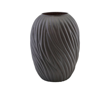 Housedoctor Vaas Noa donker bruin glas Ø26,5x36,5cm