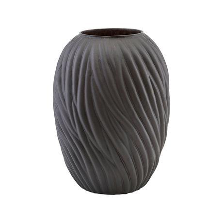 Housedoctor Vase Noa verre brun foncé Ø26,5x36,5cm