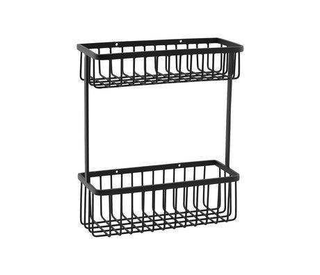 Housedoctor Wandrek Basket zwart staal L 28x11x33cm