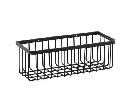 Housedoctor Basket rack black steel S 28x11x9.5cm
