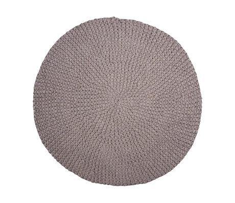 Housedoctor Tapis de bain crochet coton gris Ø80cm