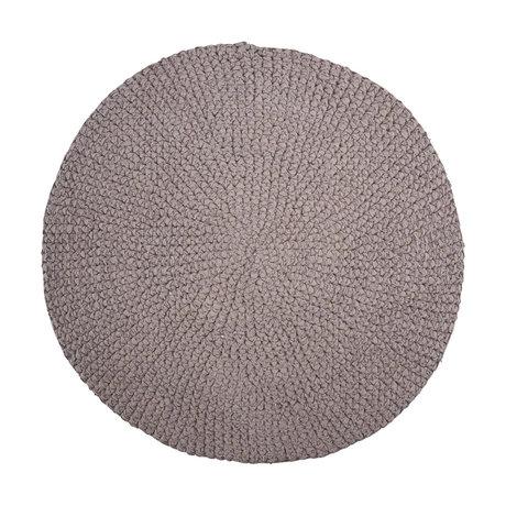 Housedoctor Badmat Crochet grijs katoen Ø80cm
