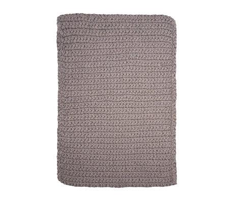 Housedoctor Tapis de bain crochet coton gris 90x60cm