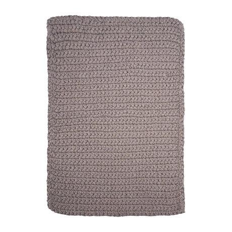 Housedoctor Badmat Crochet grijs katoen 90x60cm