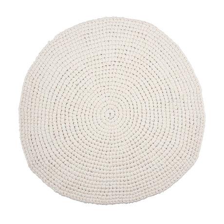 Housedoctor Badmat Crochet wit katoen Ø80cm