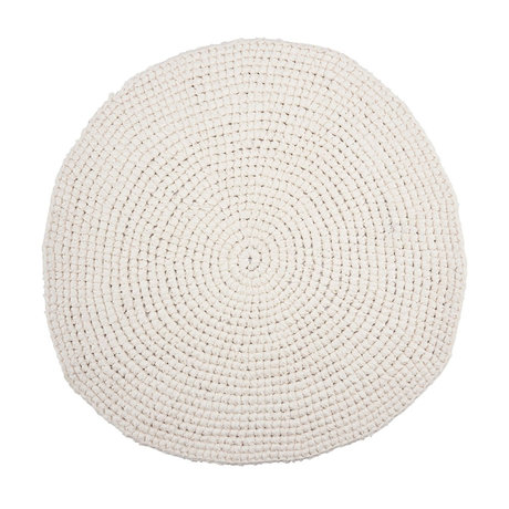 Housedoctor Crochet bath mat white cotton Ø80cm