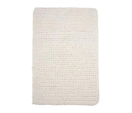 Housedoctor Badmat Crochet wit katoen 90x60cm