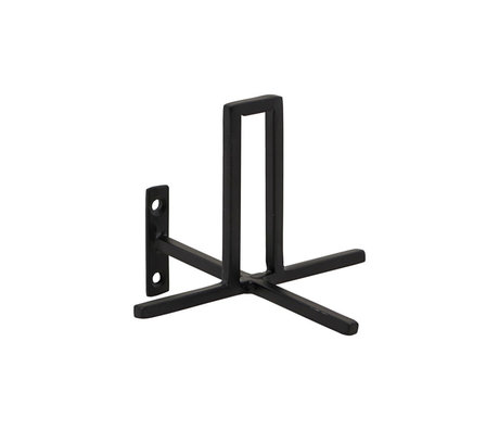 Housedoctor WC rol houder Add zwart ijzer 13x13x8cm