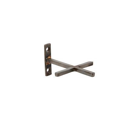 Housedoctor Wandhaak Add antiek ijzer set van 2 9,5x7,5cm