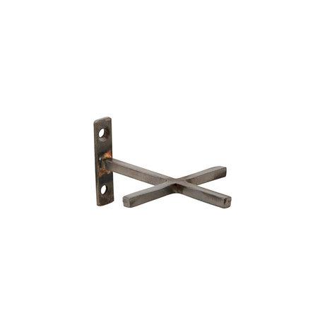 Housedoctor Wandhaken Add antikes Eisen 2er-Set 9,5 x 7,5 cm
