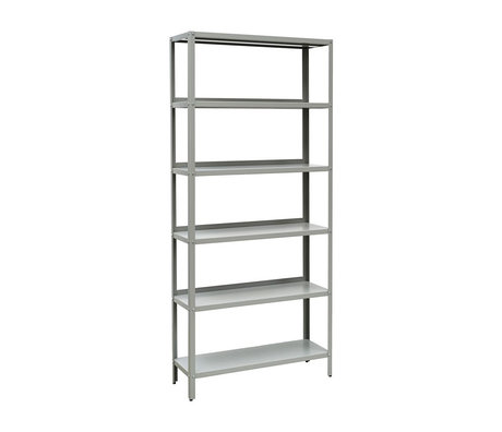 Nicolas Vahe Shelf cupboard Display gray metal 90x30x200cm