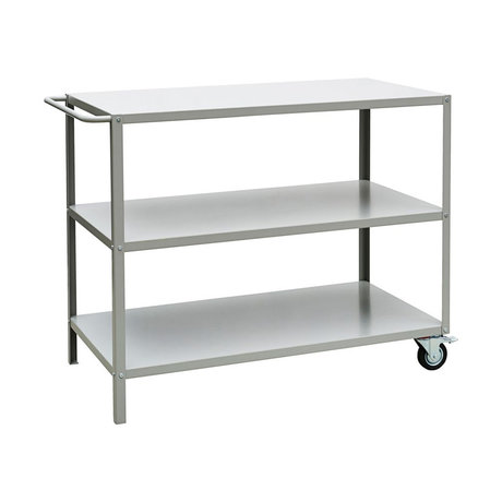 Nicolas Vahe Trolley Display gray metal 110x60x90cm