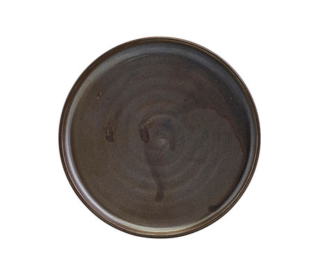 Nicolas Vahe Breakfast plate Forrest brown earthenware Ø13.5x2.5cm