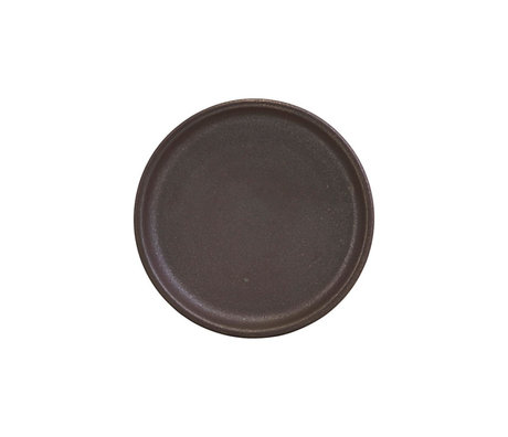 Nicolas Vahe Plate Forrest brown earthenware Ø10x2.5cm