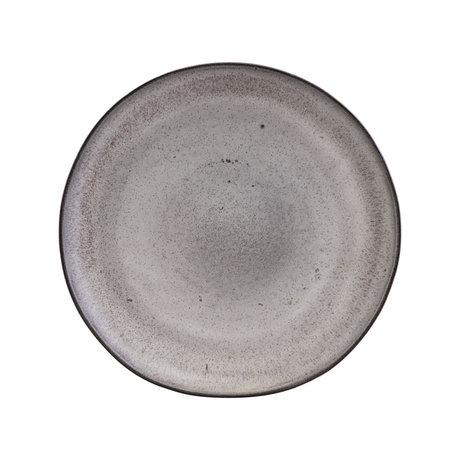 Nicolas Vahe Assiette petit-déjeuner en terre cuite gris pierre Ø22cm