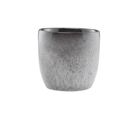 Nicolas Vahe Mok Stone grijs aardewerk Ø8x8cm