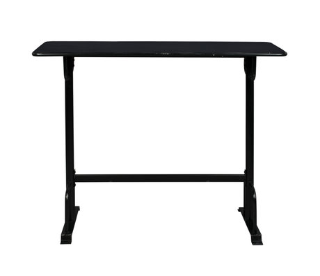 Dutchbone Table de bar Declan en métal noir 140x50x104cm