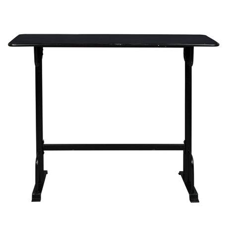 Dutchbone Bar table Declan black metal 140x50x104cm