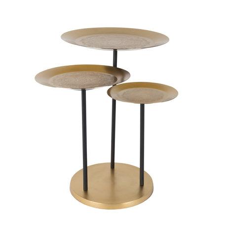 DUTCHBONE Table d'appoint Zatar en laiton doré Ø58.5x57cm