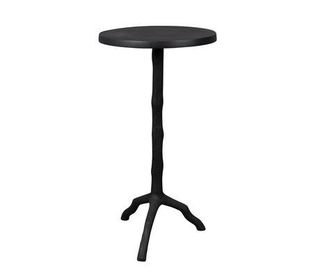 DUTCHBONE Side table Twig black metal Ø30.5x61cm