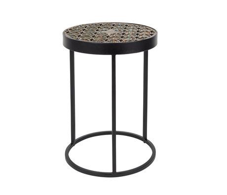 DUTCHBONE Table d'appoint Sari en laiton doré Ø33x46cm