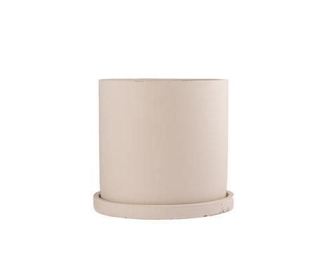 mister FRENKIE Pot Rustiq beige earthenware M Ø16x15cm