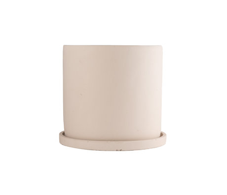 mister FRENKIE Pot Rustiq beige earthenware L Ø19x17.5cm