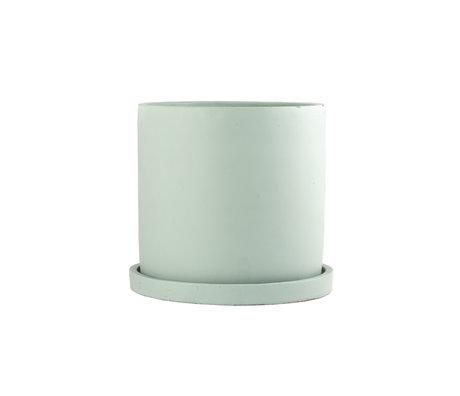 mister FRENKIE Pot Rustiq groen aardewerk M Ø16x15cm