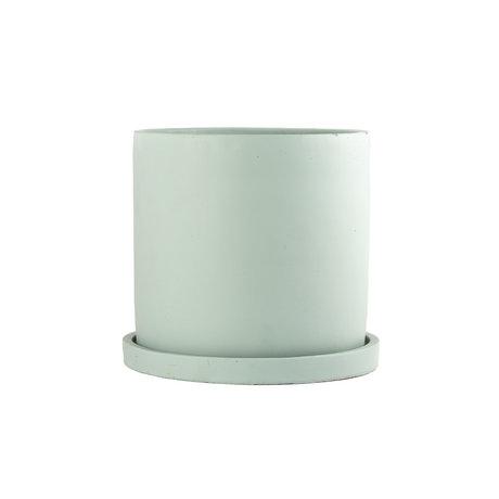mister FRENKIE Rustiq pot green pottery M Ø16x15cm