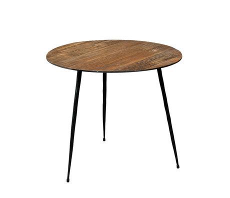 DUTCHBONE Table d'appoint poivre brun bois S Ø40x35cm