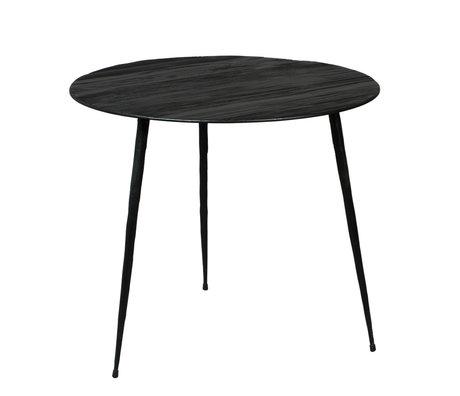 DUTCHBONE Table d'appoint Pepper bois noir L Ø45x40cm