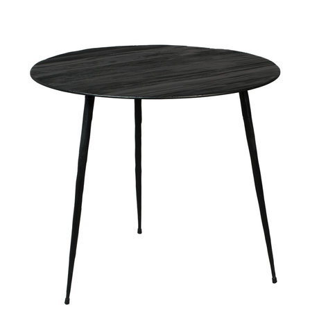 DUTCHBONE Pepper side table black wood L Ø45x40cm