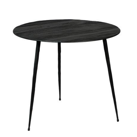 DUTCHBONE Pfeffer Beistelltisch aus schwarzem Holz L Ø45x40cm