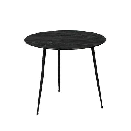 DUTCHBONE Table d'appoint Pepper bois noir S Ø40x35cm