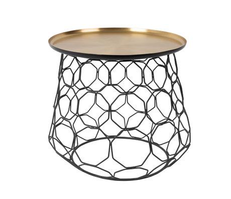 DUTCHBONE Side table Moulin brass gold metal Ø54x47cm